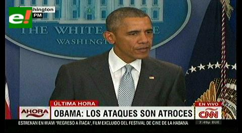 """Obama: """"ataques en Francia son contra toda la humanidad"""""""