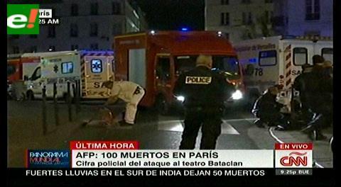 Ya son al menos 140 los muertos en Paris; Hollande anula su viaje al G20 y convoca un consejo de Defensa