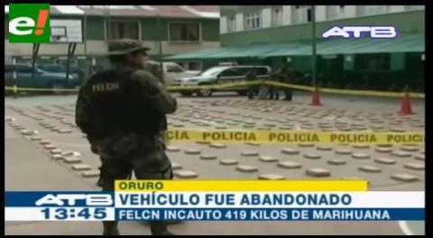 """Plan Ñandereko"" incauta más de 420 kilos de droga en Oruro"