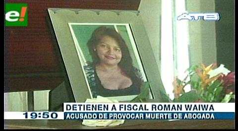 Detienen a fiscal acusado de provocar muerte de abogada