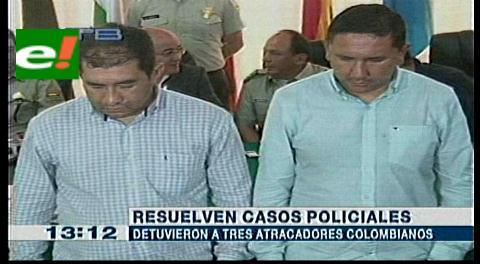 Detienen a tres atracadores colombianos