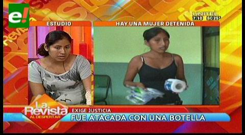 Mujer atacada con una botella pide justicia