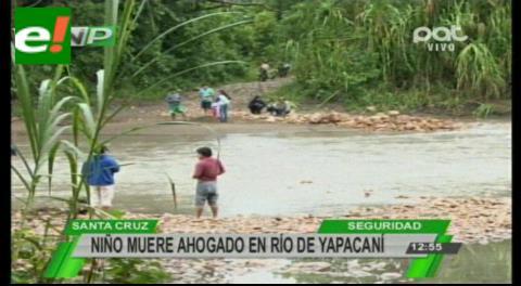 Menor de 8 años muere ahogado en el río de Yapacaní