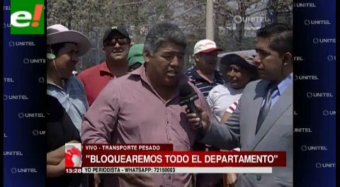 Santa Cruz: Transporte pesado anuncia que bloqueará la ciudad si no hay solución a sus demandas