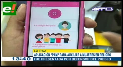 La Paz: Desarrollan aplicación «PAM» para auxiliar a mujeres en peligro