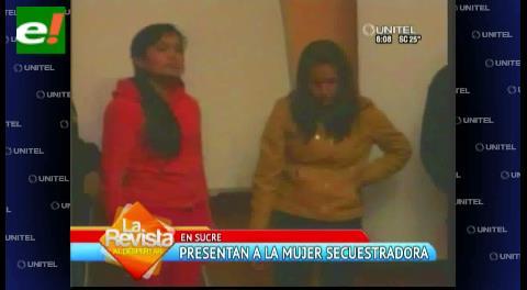 Presentan secuestradora de bebé en Sucre