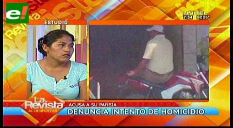 Mujer denuncia a su ex esposo de intento de homicidio