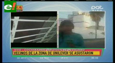 Explota caldero de una fábrica en Cochabamba