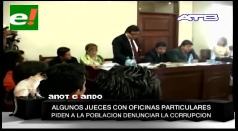 Se presentaron al menos 500 denuncias contra jueces por irregularidades en Cochabamba