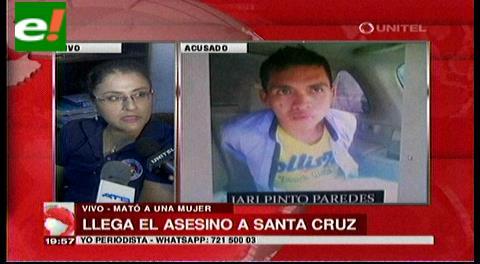 Autor confeso de horrendo crimen ya está en Santa Cruz