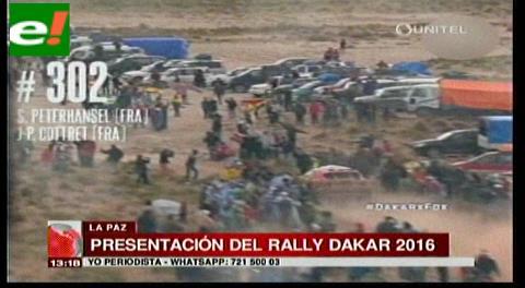 Bolivia presenta el Dakar 2016 con Potosí como principal protagonista
