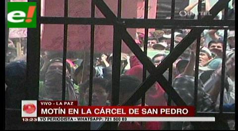 Motín en la cárcel de San Pedro por pago de prediarios