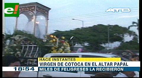 Virgen de Cotoca en el Altar Papal