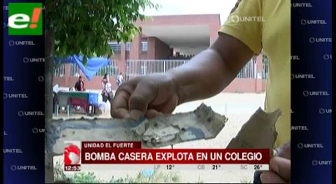 Explosivo casero explotó en un colegio de Los Lotes