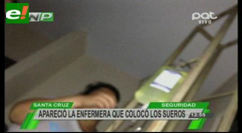 Aparece enfermera que colocó sueros a los hermanos Zapana