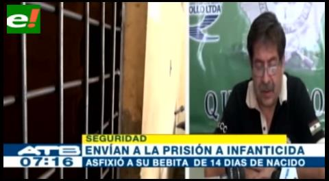 Envían a la cárcel a padre que asfixió a su bebé de 14 días