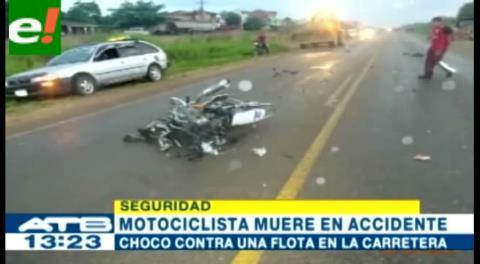 Motociclista murió tras impactar contra un bus en el Chapare