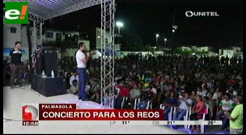 Concierto en Palmasola derrochó alegría sin alcohol