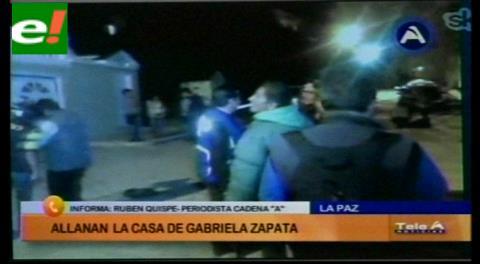 Allanan la casa de Gabriela Zapata