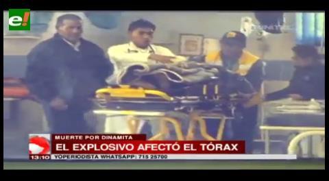 Fallece luego de un accidente por manipular dinamita; Evo levantó el veto al uso de ese explosivo