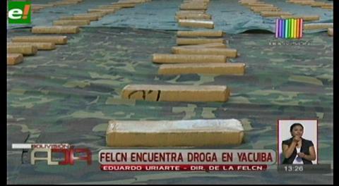 Felcn encuentra droga en Yacuiba