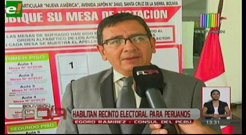 Habilitan recinto electoral para peruanos