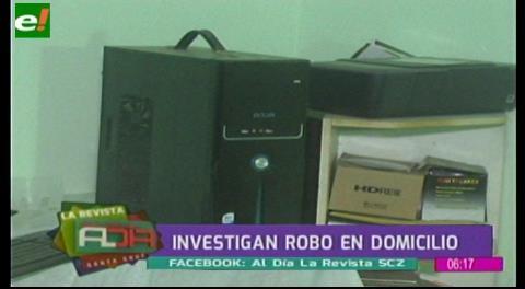 Investigan robo en un domicilio