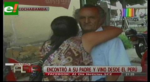 Encontró a su padre desaparecido y vino desde Perú a rescatarlo