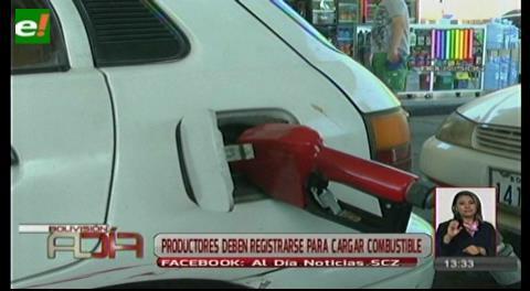 Productores deben registrarse para cargar combustible