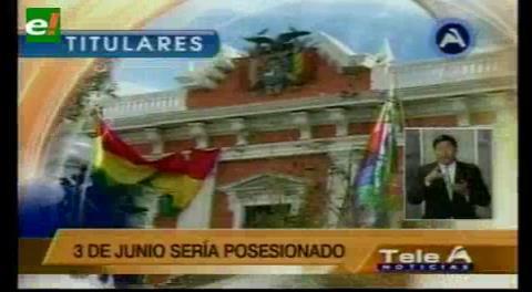 Titulares de TV: Nuevo Contralor General deberá presentar como requisito la no militancia política en los últimos 20 años
