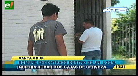 Encuentran presunto delincuente dentro de un local