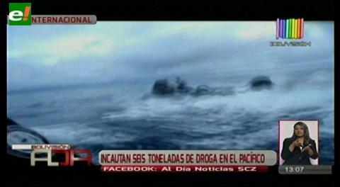 Incautan 6 toneladas de droga en el Pacífico