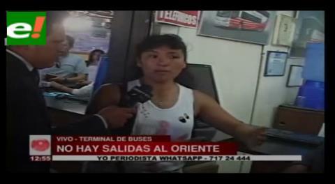 Cochabamba: No hay salida de buses al oriente en la terminal