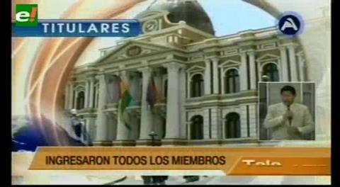 Titulares de TV: Comisión Mixta Parlamentaria visitó a Zapata en la cárcel de Miraflores