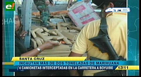 Incautan más de dos toneladas de marihuana en Boyuibe