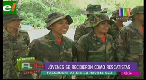 15 jóvenes se recibieron como rescatistas