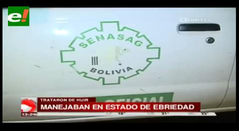 Destituyen a funcionarios del Senasag que agredieron a policías