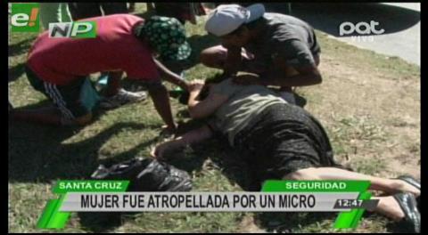 Mujer fue atropellada por un micro