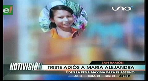 Triste adiós a María Alejandra