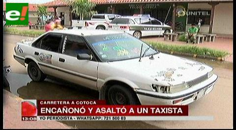 Presentan acusado de atracar a un taxista