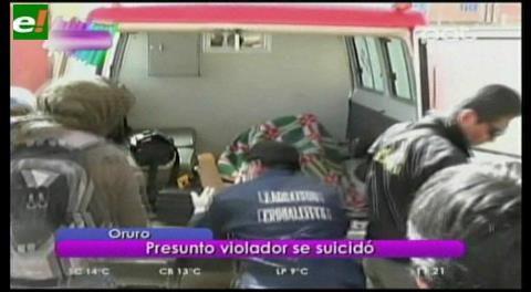 Oruro. Presunto violador se suicidó