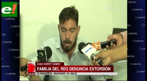 Familiares de Hardy Gómez denuncian extorsión