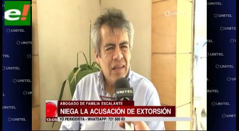 Abogado de familia Escalante niega acusación de extorsión