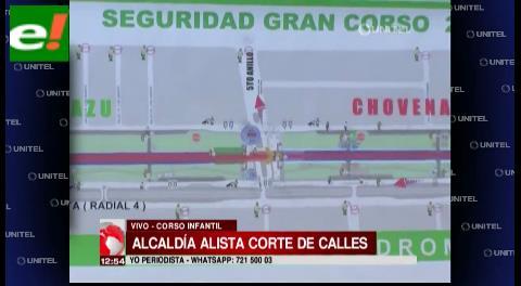 Alcaldía alista cierre de calles por el corso infantil
