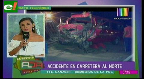 Accidente en carretera al norte deja dos muertos