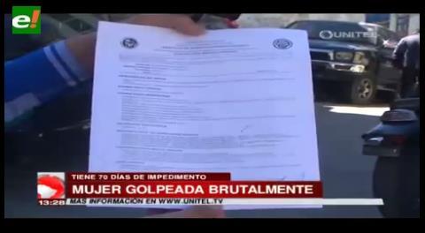 La Paz. Una mujer fue golpeada brutalmente por pedirle su celular a un amigo