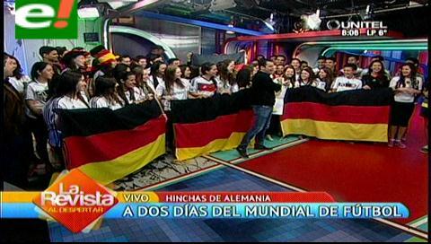 Euforia del colegio Alemán a dos días del Mundial Brasil 2014
