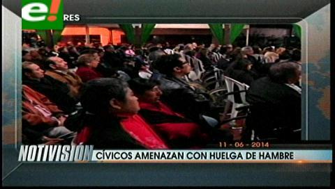 Titulares: Comité Cívico cruceño amenaza con huelga de hambre por las ternas electorales