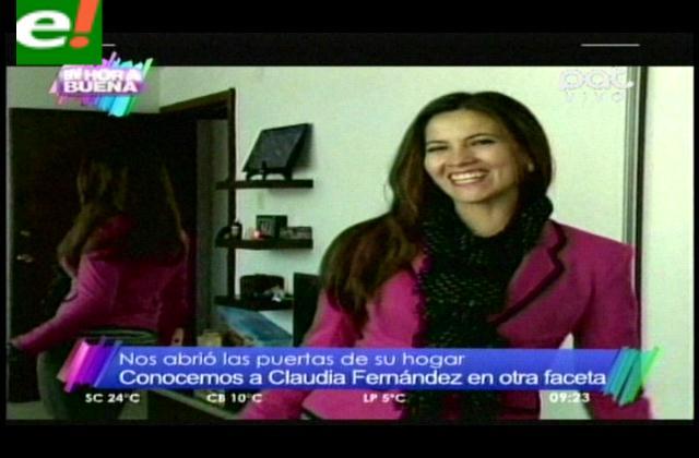 Claudia Fernández, en la intimidad de su hogar