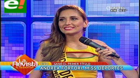 Andrea Forfori es Miss Deporte 2014